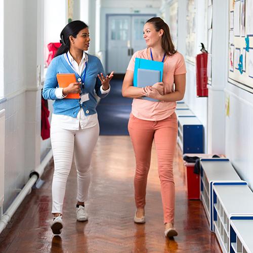 Teachers walking